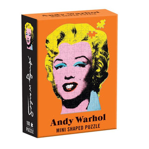 "Andy Warhol Mini Shaped Jigsaw Puzzle ""Marilyn"" Box Front"