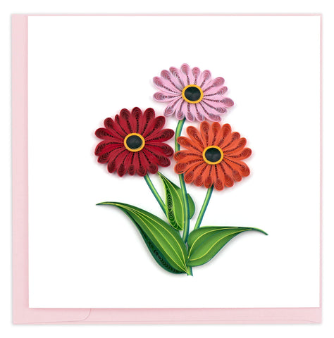 Quilled Gerbera Daisies Card