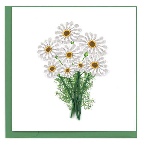 Quilled White Daisies Card