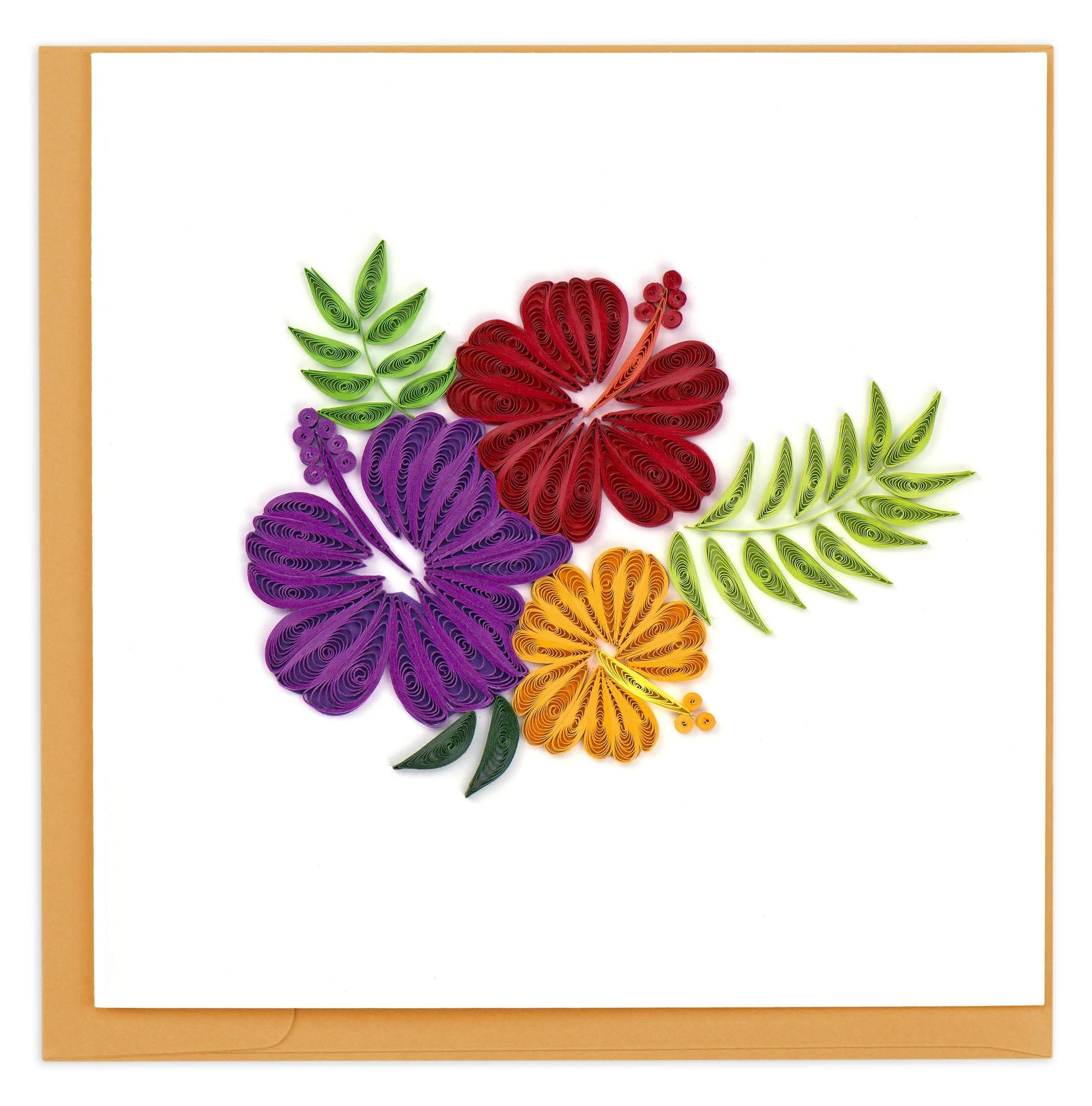 Quilled Hibiscus Card
