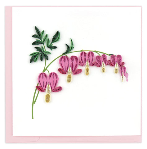 Quilled Bleeding Heart Card