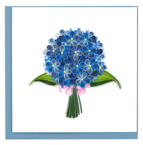 Quilled Hydrangeas Greeting Card