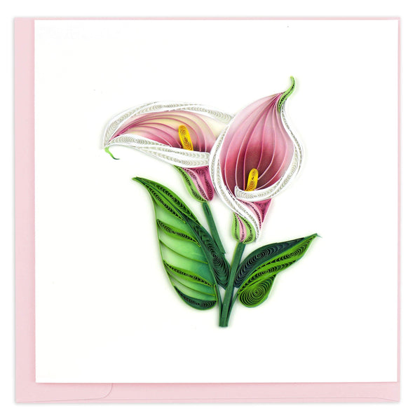 Quilled Calla Lily Card