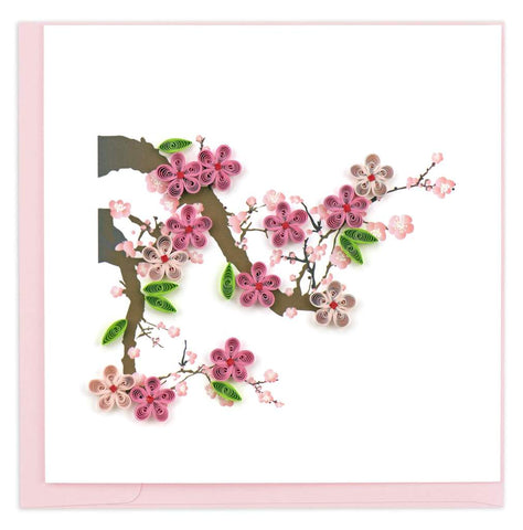 Quilled Cherry Blossoms Blank Card