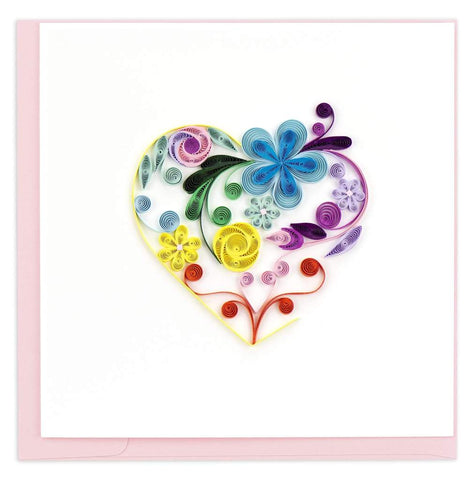 Quilled Floral Heart Card
