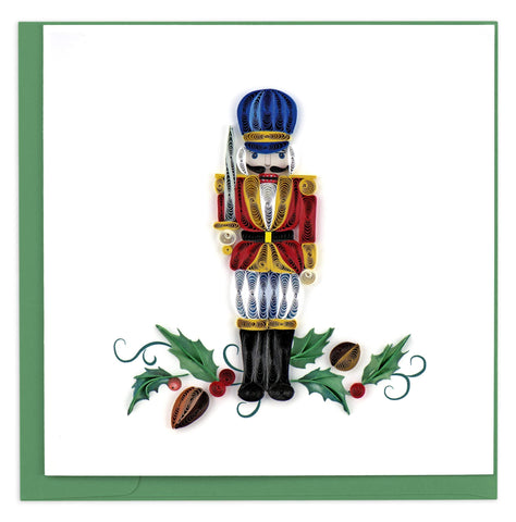 Quilled Nutcracker Blank Holiday Card