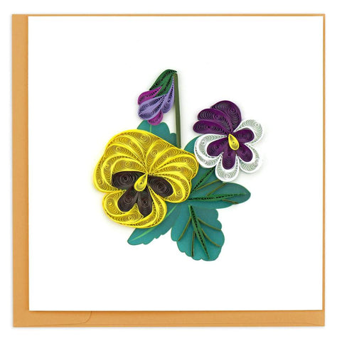 Quilled Pansies Card