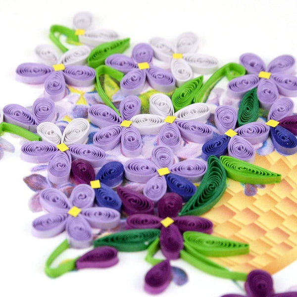 Quilled Violets Card