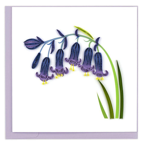 Quilled Bluebells Card