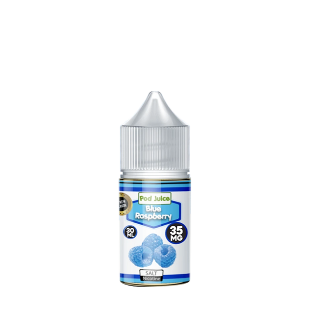 Pod Juice Blue Raspberry Nicotine Salt eLiquid 30ml - ԷՆԴՍ
