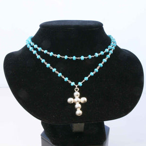 Two Strand beaded chain Necklace