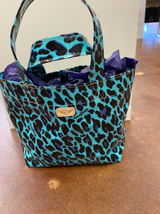 Consuela Blue Leopard Lunch Tote