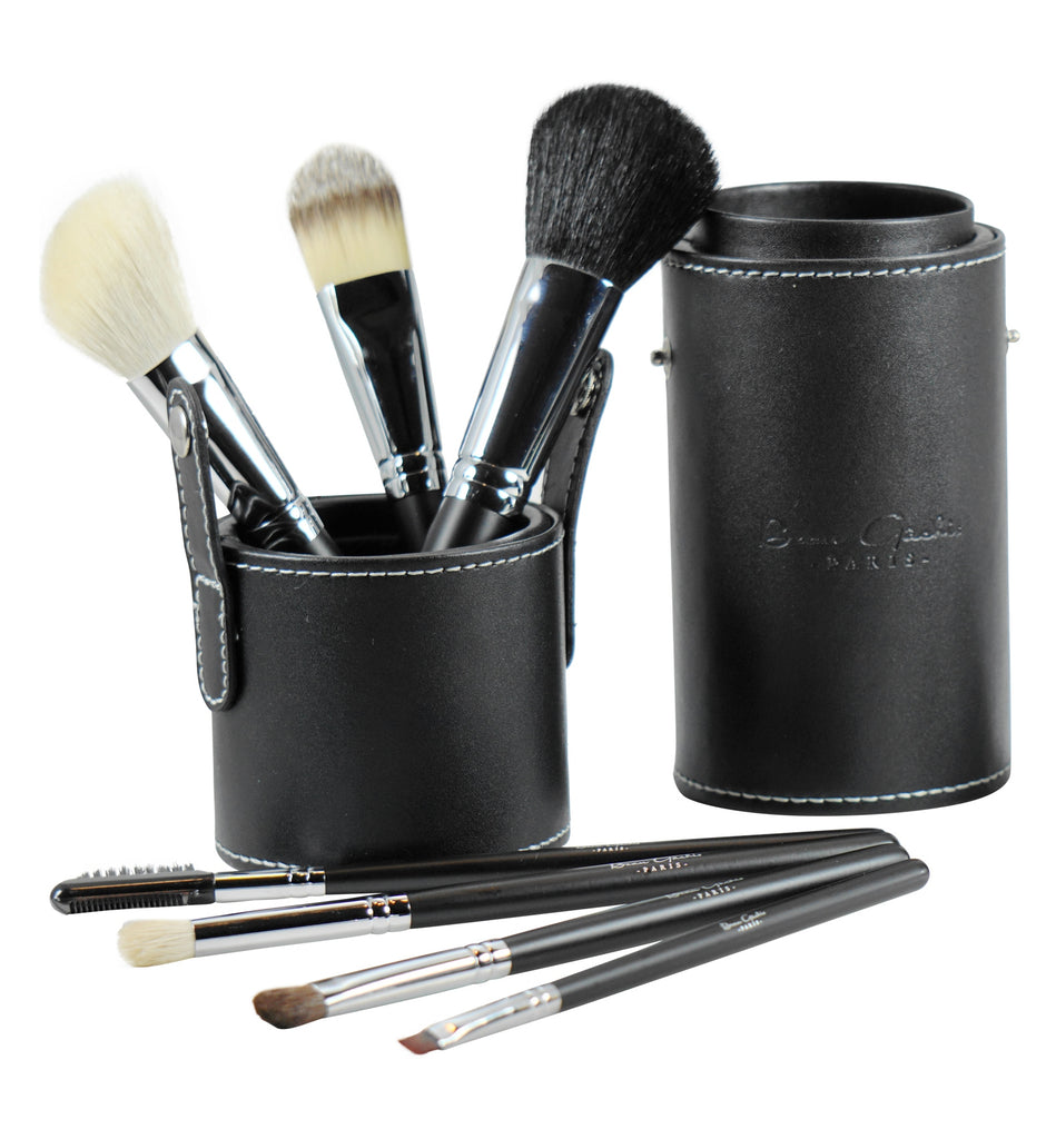 Beau Gâchis 7 Piece Professional Makeup Brush Set With Leather Storage Case - Beau Gâchis® Paris