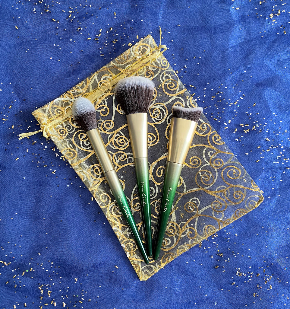 Beau Gâchis Cosmetics Sculpt, Highlight, and Blend Brush Trio