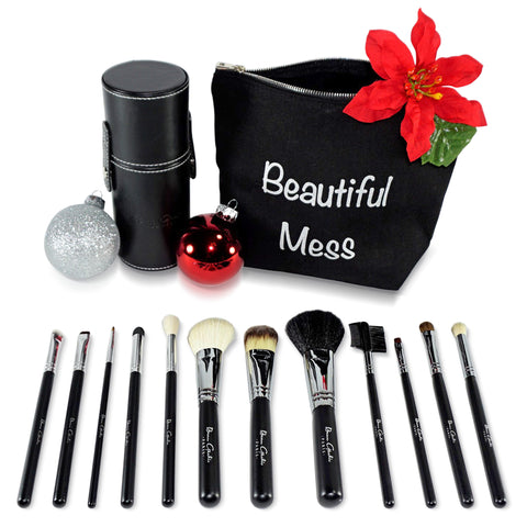 Holiday Deal 1 - 12 Piece Set - Includes the 7 Piece Makeup Brush Set and the 5 Piece Eye Brush Set