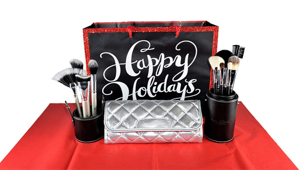 Holiday Deal 4 - Our 7 Piece Makeup Brush Set with Leather Case Plus Our 4 Piece Highlight and Contour Set