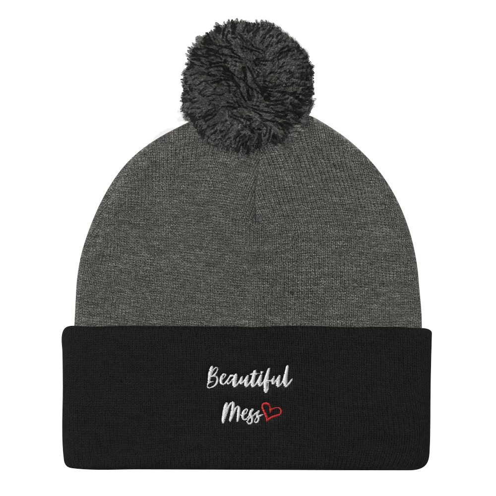 Beautiful Mess Pom-Pom Beanie