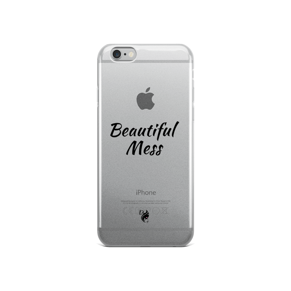 Beautiful Mess iPhone Case with Black Lettering - Beau Gâchis® Paris