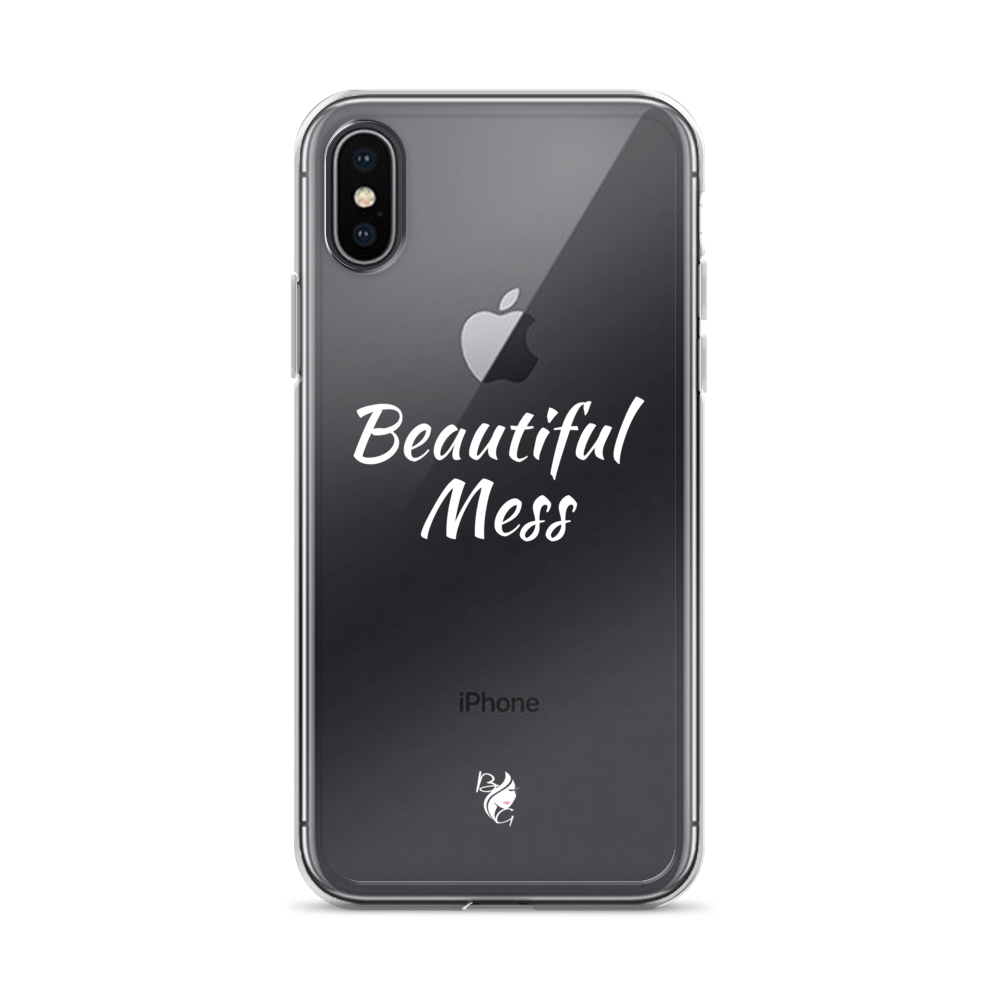 Beautiful Mess iPhone Case with White Lettering - Beau Gâchis® Paris