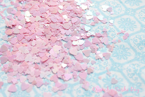 5 grams - 3-6mm  Pink Assorted Goth Glitter, Pastel Glitter, Glitter, Glitter Confetti, Confetti, Kawaii, Resin Glitter, Crosses and Heart