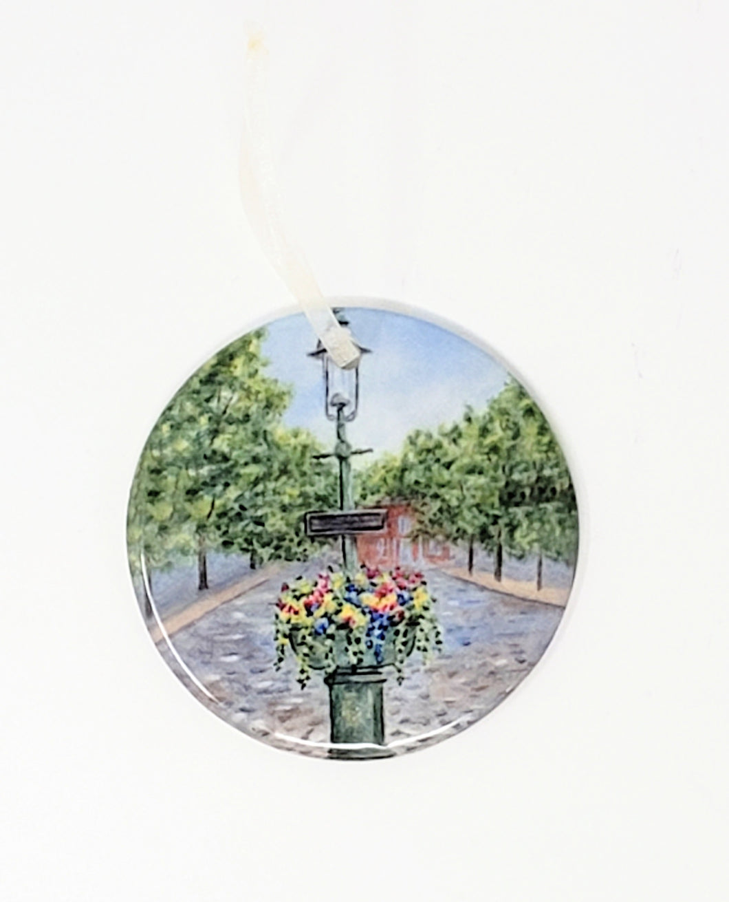 Nantucket Christmas Ornament, Nantucket Ceramic Ornaments Cape Cod gift Christmas gift for dad small gift for mom - Leigh Barry Watercolors