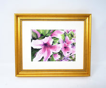 Load image into Gallery viewer, Pink Azaleas: Watercolor giclee print or original painting, floral watercolor art, pink floral art, framed wall art, azalea painting, - Leigh Barry Watercolors
