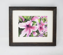 Load image into Gallery viewer, Pink Azaleas: Watercolor giclee print or original painting, floral watercolor art, pink floral art, framed wall art, azalea painting,