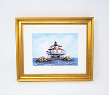 Load image into Gallery viewer, Thomas Point Lighthouse Watercolor Print Or Original Painting Giclee Print art coastal print - Leigh Barry Watercolors