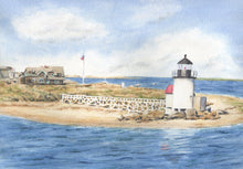 Load image into Gallery viewer, Brant Point Light: Nantucket Lighthouse, Nantucket Watercolor Print Or Original Painting Giclee Print art Cape Cod coastal print - Leigh Barry Watercolors