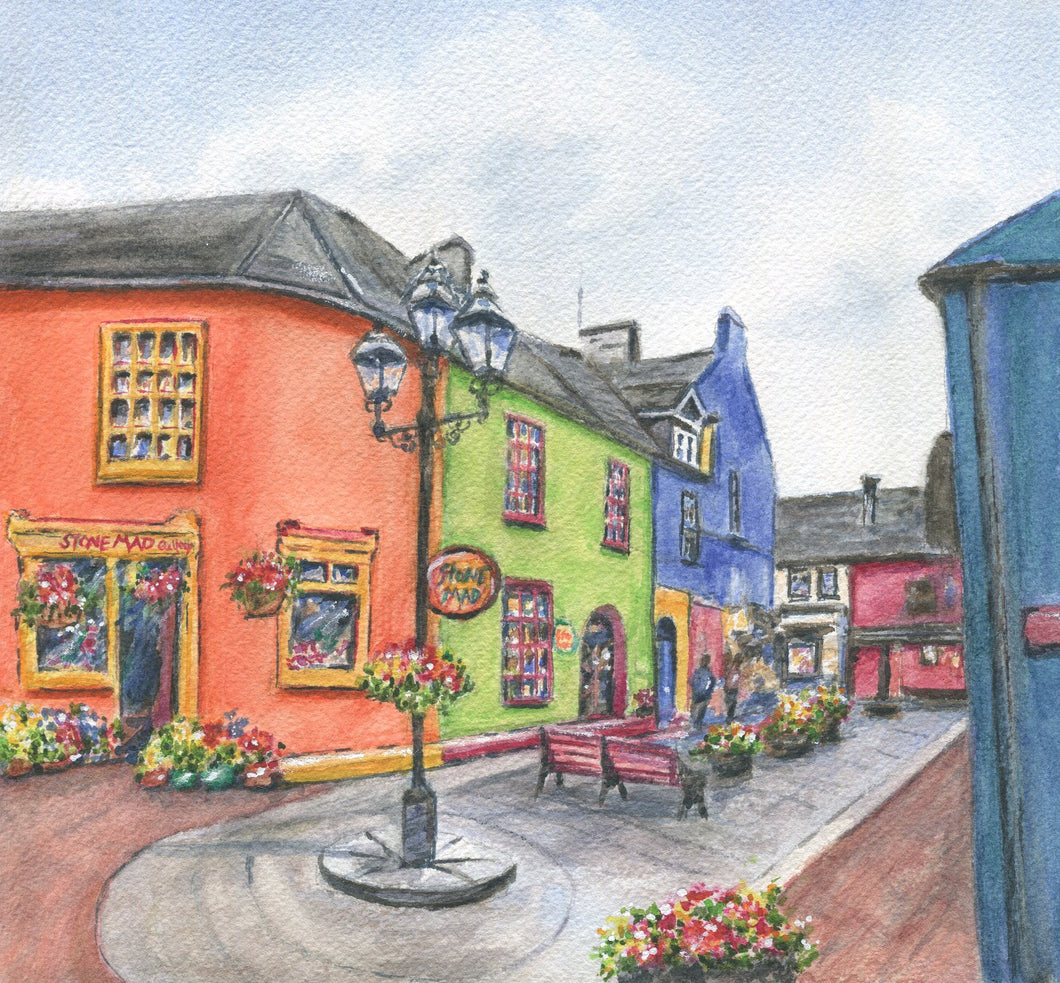 Kinsale Ireland:  Kinsale Print Watercolor Original Or Giclee Print Irish Art Ireland Painting Irish Gift Ireland Gift - Leigh Barry Watercolors