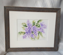 Load image into Gallery viewer, Lilacs: watercolor painting floral print purple flowers home decor wall decor bathroom decor framed art giclee print archival purple floral - Leigh Barry Watercolors