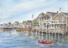 Load image into Gallery viewer, Nantucket Watercolor Painting Fine Art Prints or Original Watercolor Nantucket Painting Cottage Art Leigh Barry Watercolors Giclee - Leigh Barry Watercolors