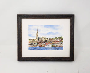 Cobh Ireland Painting Watercolor Original Or Giclee Print, Cobh County Cork Print, Irish Art, Ireland Painting, Irish Gift, Ireland Gift - Leigh Barry Watercolors