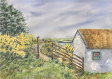 Load image into Gallery viewer, Ireland Farm: Irish landscape painting, Irish art print, Irish gift, Ireland landscape, Irish cottage print, Ireland cottage art, Gaelic art