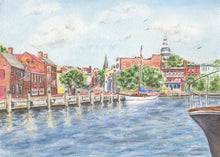 Load image into Gallery viewer, Annapolis notecards, Annapolis gift, Annapolis cards, Annapolis Maryland gift, nautical notecards, naval academy gift, Maryland art painting