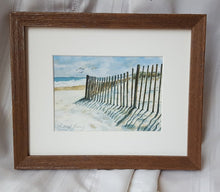 Load image into Gallery viewer, Beach watercolor painting - beach landscape painting - ready to hang wall art - ocean watercolor - beach decor wall art - Fenwick Island - Leigh Barry Watercolors