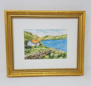 COUNTY CLARE Ireland landscape painting Irish art Ireland painting Irish cottage art watercolor painting original art original painting