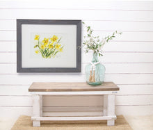 Load image into Gallery viewer, Daffodils: watercolor flowers floral watercolor painting framed watercolor floral spring floral yellow floral gift ideas daffodil print - Leigh Barry Watercolors