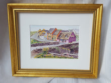 Load image into Gallery viewer, Doolin: Irish watercolor painting Irish art Irish village print Ireland painting, watercolor landscape painting framed art Ireland lanscape