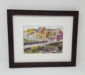 Doolin: Irish watercolor painting Irish art Irish village print Ireland painting, watercolor landscape painting framed art Ireland lanscape