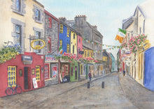 Load image into Gallery viewer, Galway Ireland Quay Street Painting Galway Print Watercolor Original Or Giclee Print Irish Art Ireland Painting Irish Gift Ireland Gift - Leigh Barry Watercolors