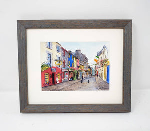Galway Ireland Quay Street Painting Galway Print Watercolor Original Or Giclee Print Irish Art Ireland Painting Irish Gift Ireland Gift - Leigh Barry Watercolors