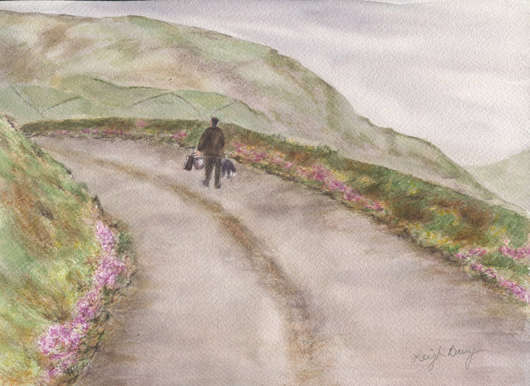 Heading Home Ireland landscape watercolor Irish art Irish painting Dingle Ireland giclee print original painting