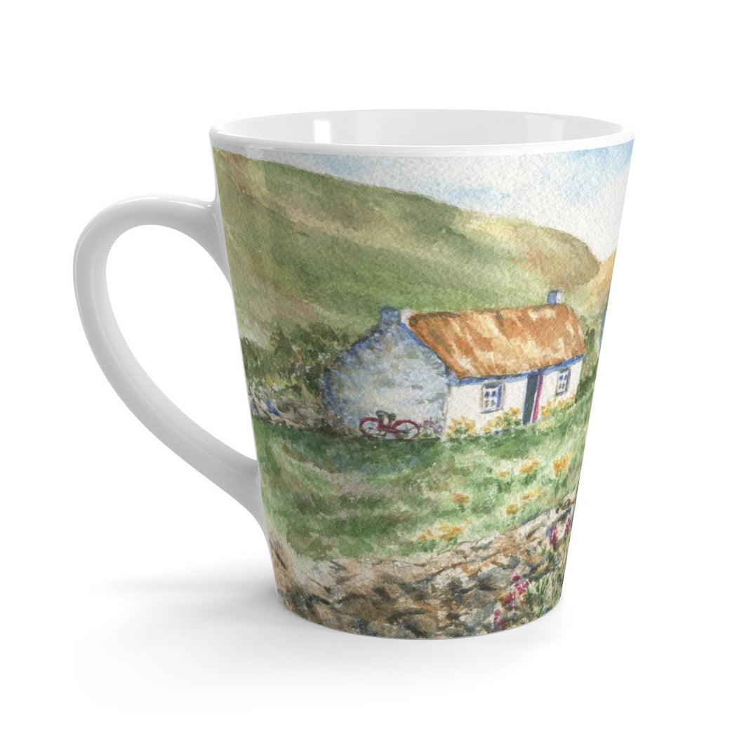 Ireland landscape Irish Latte mug Irish coffee mug Irish cottage painting Irish gift Ireland landscape painting original art mug 12oz mug