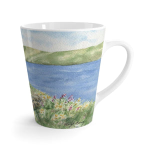 Ireland landscape Irish Latte mug Irish coffee mug Irish cottage painting Irish gift Ireland landscape painting original art mug 12oz mug - Leigh Barry Watercolors