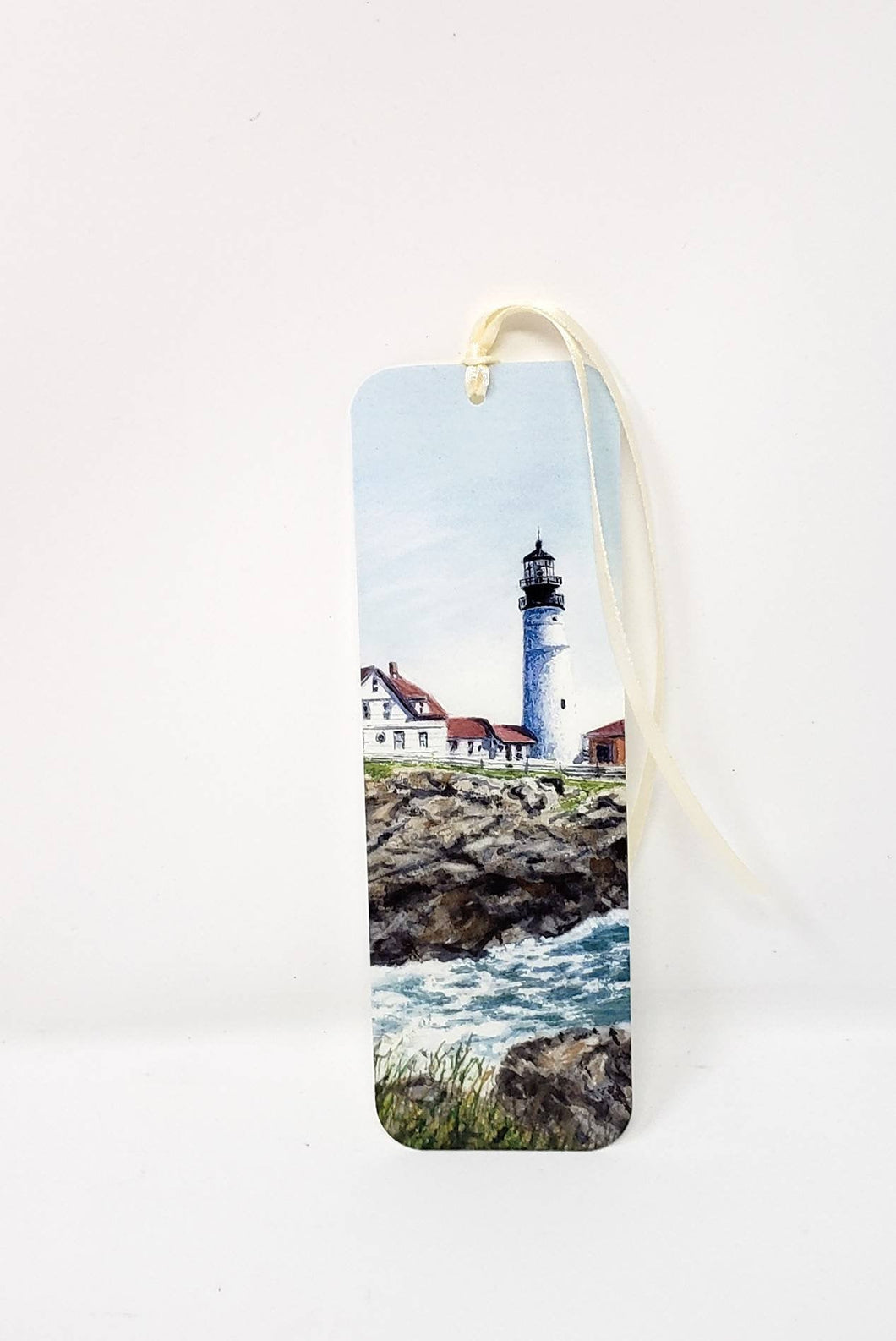 Portland Head Lighthouse Maine lighthouse bookmark  handpainted bookmark original bookmarker seaside painting bookmark watercolor lighthouse