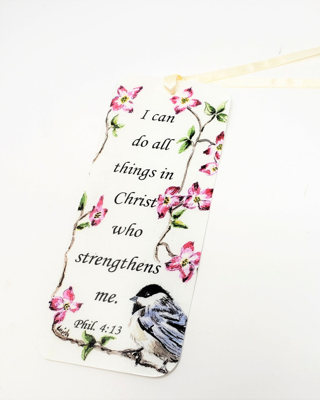 Philippians 4 bookmark original art bookmark scripture quote gift small gift idea gift for booklover original bookmark inspirational quote - Leigh Barry Watercolors