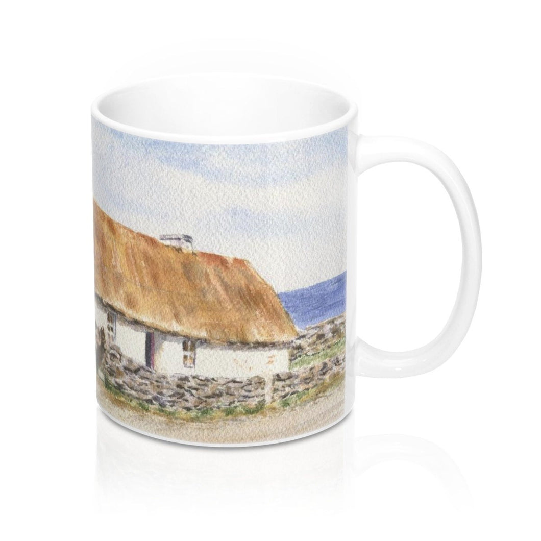 Irish Mug 11oz Irish cottage mug Irish gift for mom Ireland landscape painting Irish art Aran island original art print Ireland wall print