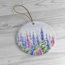 Load image into Gallery viewer, Lupine Ceramic Ornaments Maine gift Maine lupine painting original maine art unique ornament Maine Christmas ornament Maine gift - Leigh Barry Watercolors