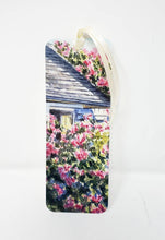 Load image into Gallery viewer, Nantucket Bookmark Nantucket Roses watercolor painting small gift stocking stuffer for her Sconset art Cape Cod art gift for reader - Leigh Barry Watercolors